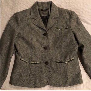 Dalia wool Herringbone blazer jacket sz 4